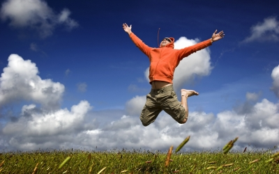 mood-joy-happiness-jump-fly-man-guy-grass-sky-clouds